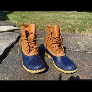 Navy Bean Boots - worn once!